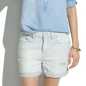 Madewell Distressed Striped Boys Shorts 27